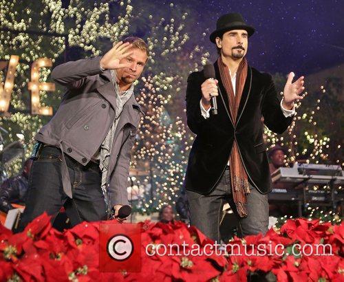 Backstreet Boys, L-R, Brian Littrell and Kevin Richardson 1