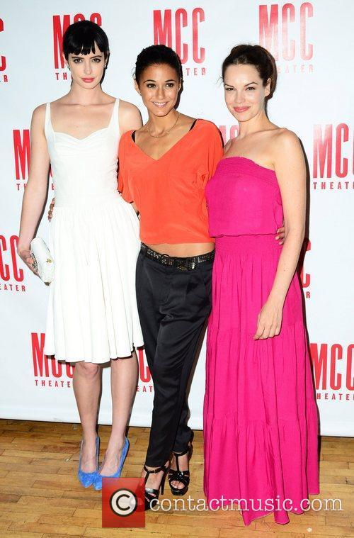 Emmanuelle Chriqui and Krysten Ritter with Tammy Blanchard...