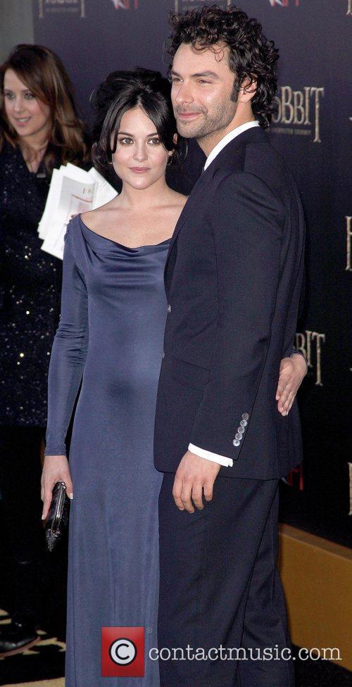 Aidan Turner,  at premiere of 'The Hobbit:...