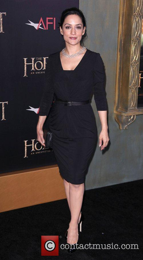 Archie Panjabi,  at premiere of 'The Hobbit:...