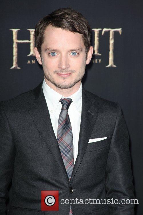 Elijah Wood,  at premiere of 'The Hobbit:...