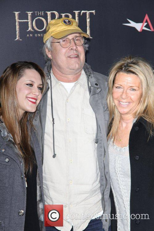 Jayni Luke, Chevy Chase and Caley Leigh Chase 2