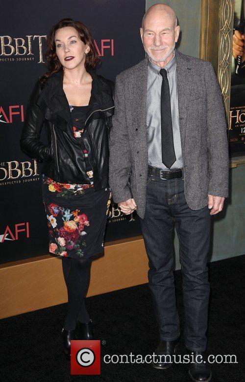 Patrick Stewart,  at premiere of 'The Hobbit:...