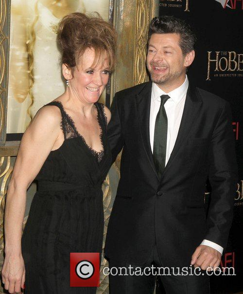 lorraine ashbourne and andy serkis at premiere 4192148