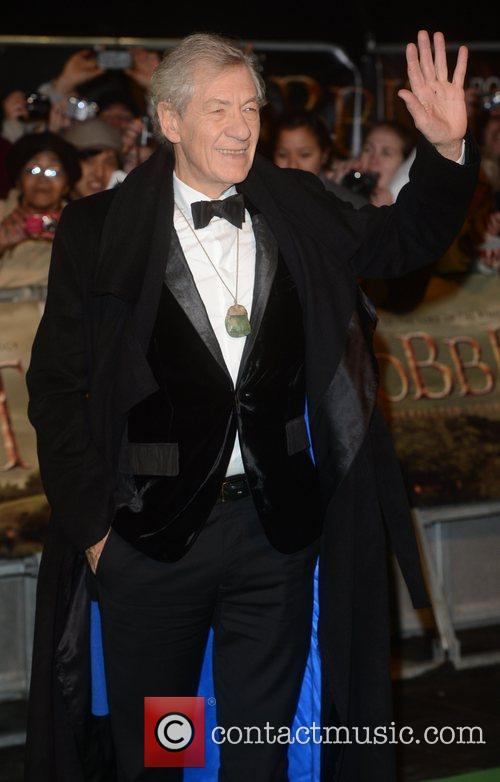 Ian Mckellen, An, The Hobbit, Odeon, Leicester Square, London and England 3