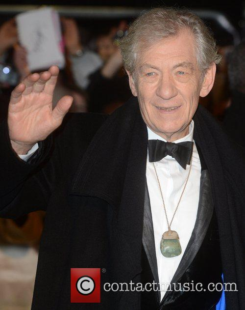Ian Mckellen, An, The Hobbit, Odeon, Leicester Square, London and England 1