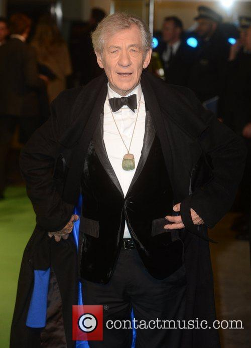 Ian Mckellen, An, The Hobbit, Odeon, Leicester Square, London and England 2