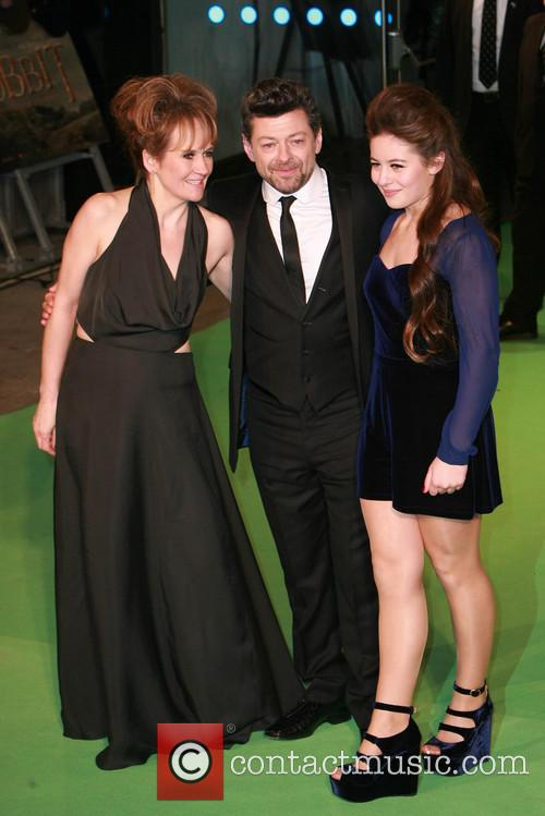 Andy Serkis, Lorraine Ashbourne and Ruby Serkis 1
