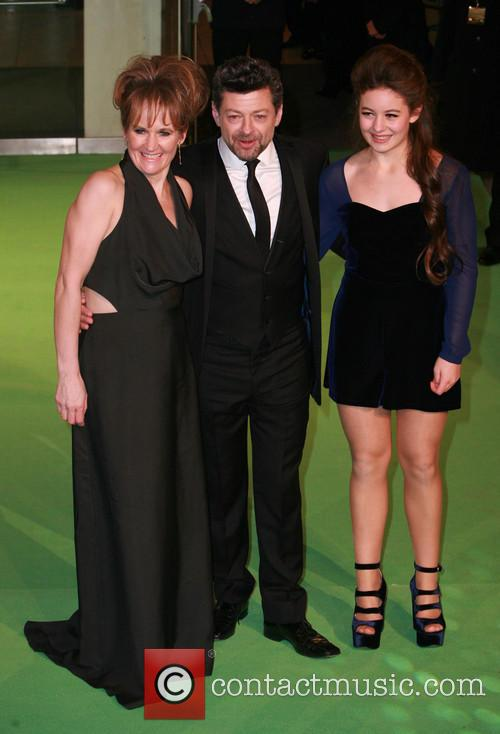 Lorraine Ashbourne, Andy Serkis and Ruby Serkis 2