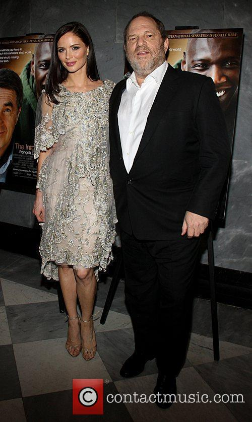 Georgina Chapman and Harvey Weinstein attend a screening...