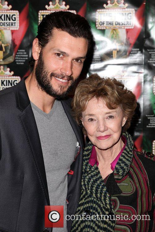 Actor Jack Cain and actress Peggy McCay Opening...