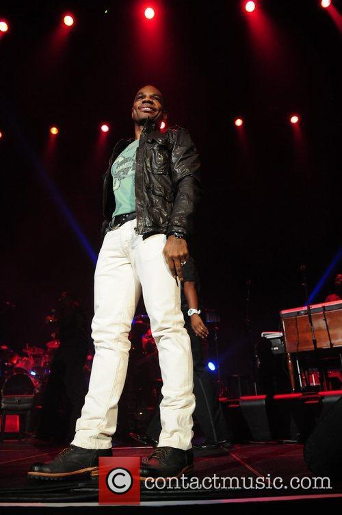 Kirk Franklin  performs during the BET Sunday...