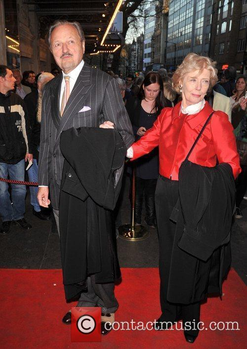 Peter Bowles and guest 'The King's Speech' press...