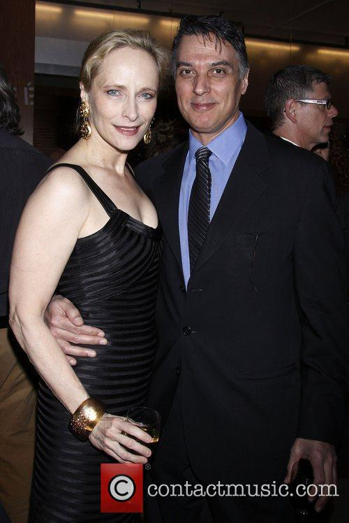 Laila Robbins and Robert Cuccioli Opening night after...