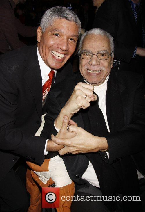 Peter Francis James and Earle Hyman Opening night...