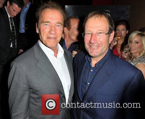 Arnold Schwarzenegger and Richard Desmond 10