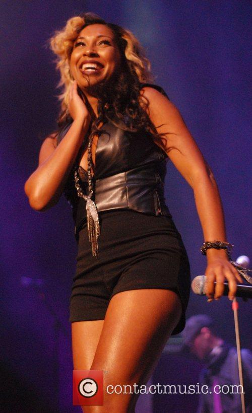 Melanie Fiona Mary J. Blige performs as part...