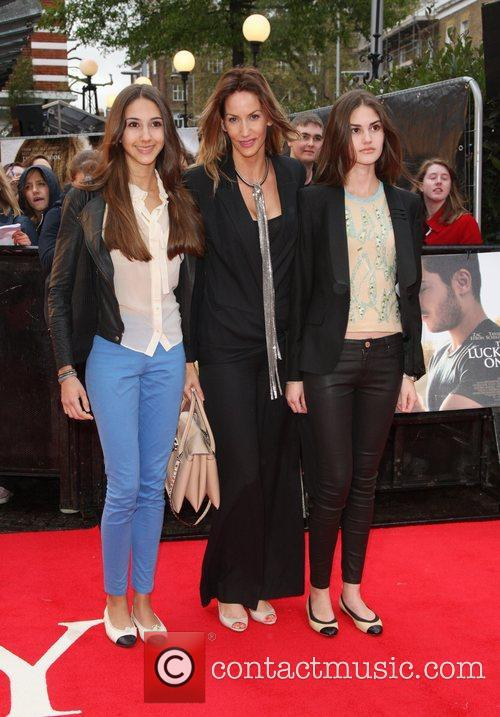 Lisa Butcher with her daughters 'The Lucky One'...