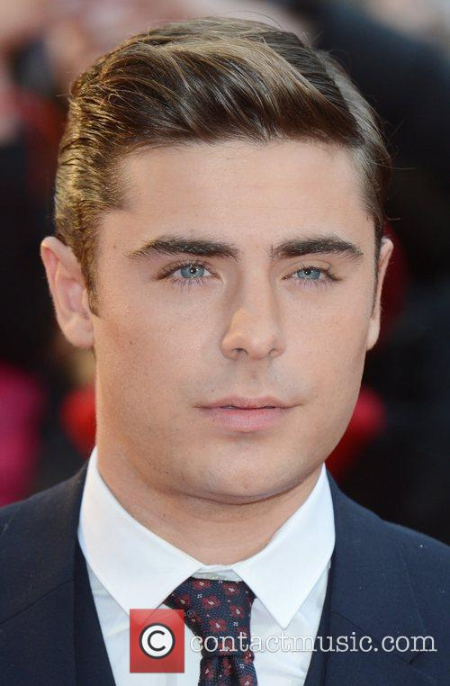 Zak Efron at the premiere of The Lucky...