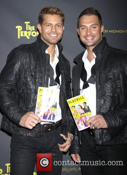Jaymes Vaughan and James Davis attends the premiere...