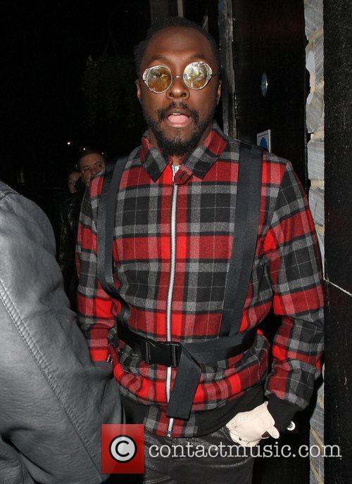 Will.i.am arriving at the Rose nightclub London, England