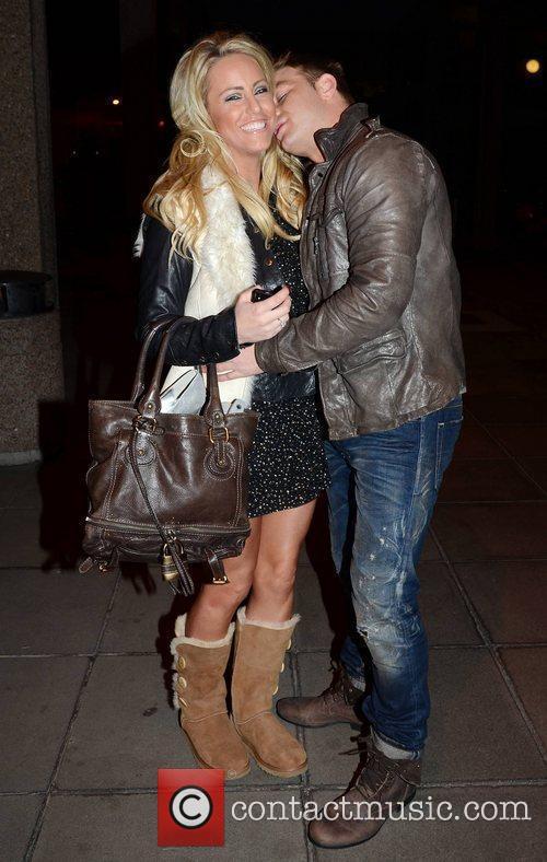 Danielle Mason and Tony Giles Celebrities outside the...