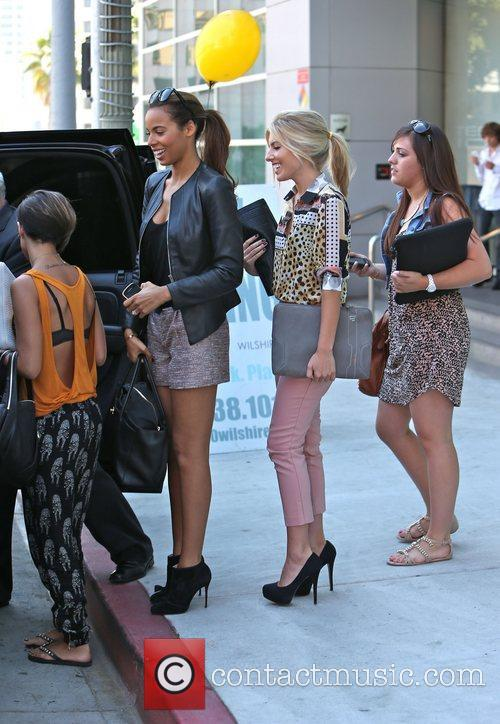 Frankie Sandford, Rochelle Humes and Mollie King 2