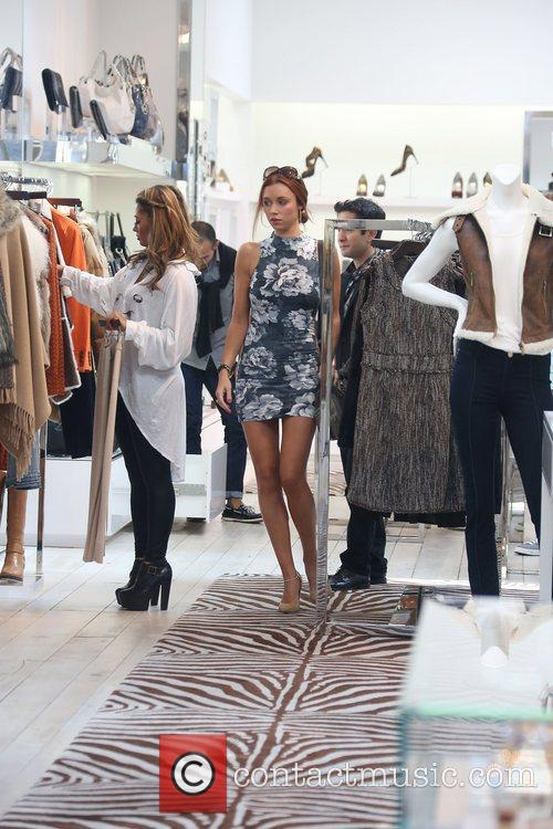 Una Healy, Vanessa White 'The Saturdays' shopping on...