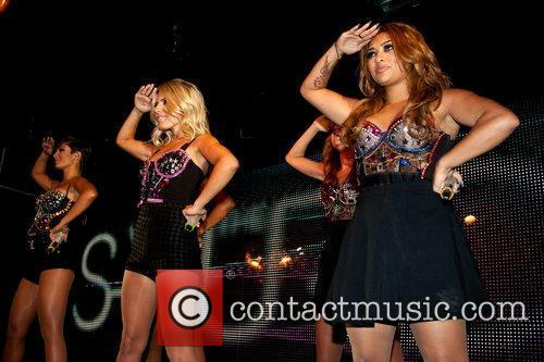 Frankie Sandford, Mollie King and Vanessa White of...