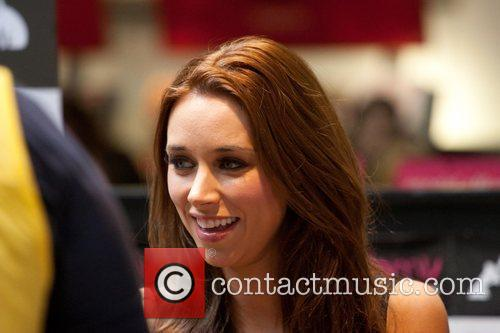 Una Healy The Saturdays signing copies of their...