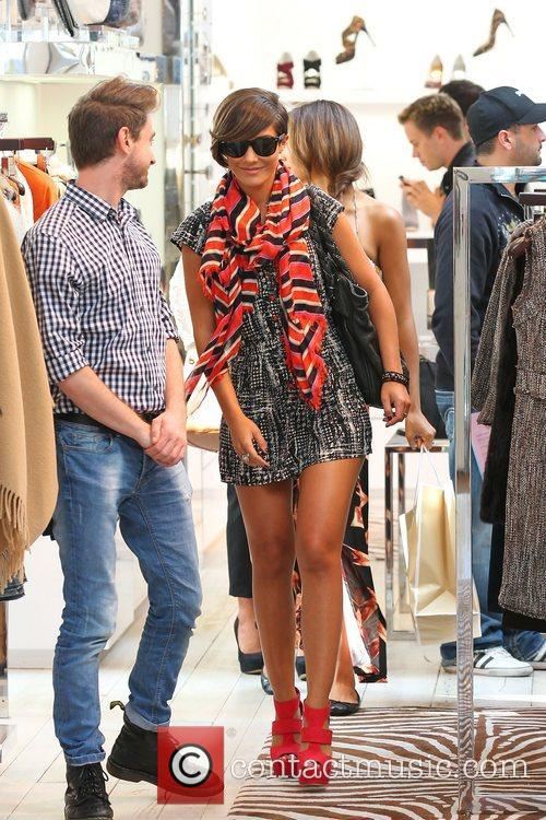 Frankie Sandford 'The Saturdays' shopping on Robertson Boulevard...