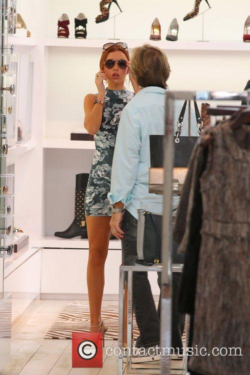 Una Healy 'The Saturdays' shopping on Robertson Boulevard...