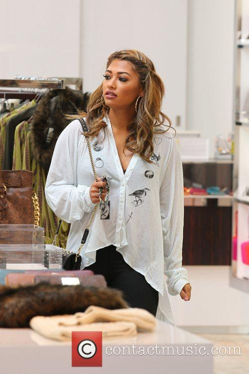 Vanessa White 'The Saturdays' shopping on Robertson Boulevard...