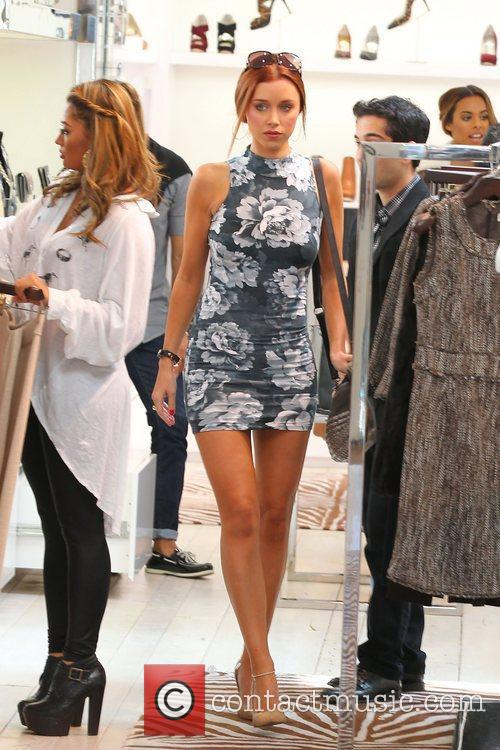 Vanessa White, Una Healy 'The Saturdays' shopping on...