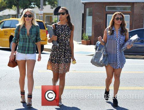 Mollie King, Rochelle Humes and Vanessa White 2