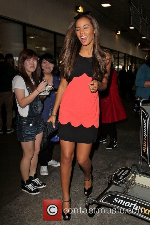 Rochelle Wiseman The Saturdays arrive at LAX Airport...