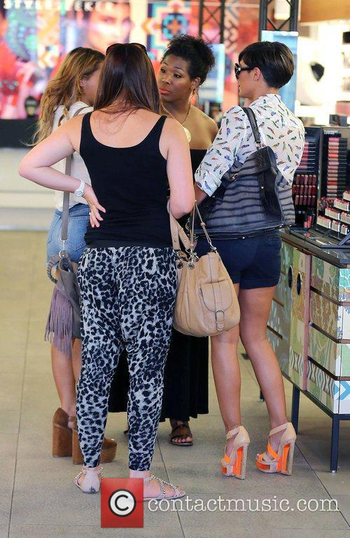 Frankie Sandford,  of The Saturdays shopping at...