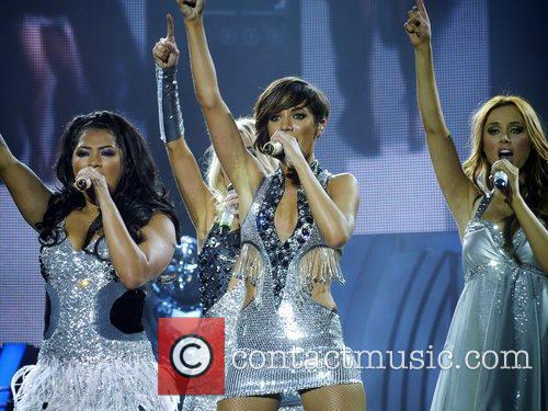 The Saturdays performing the first gig of their...