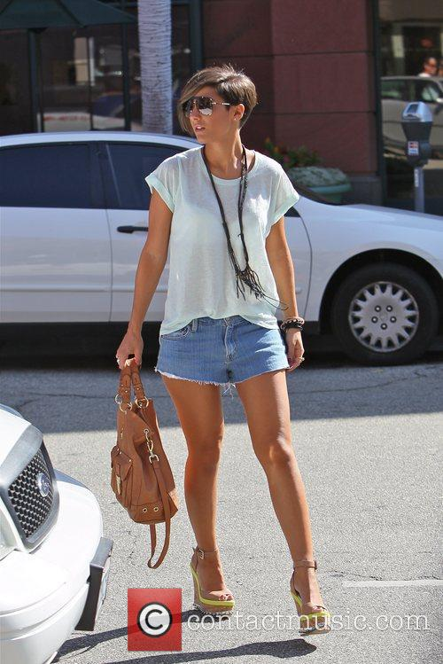 Frankie Sandford of The Saturday's  get manicures...