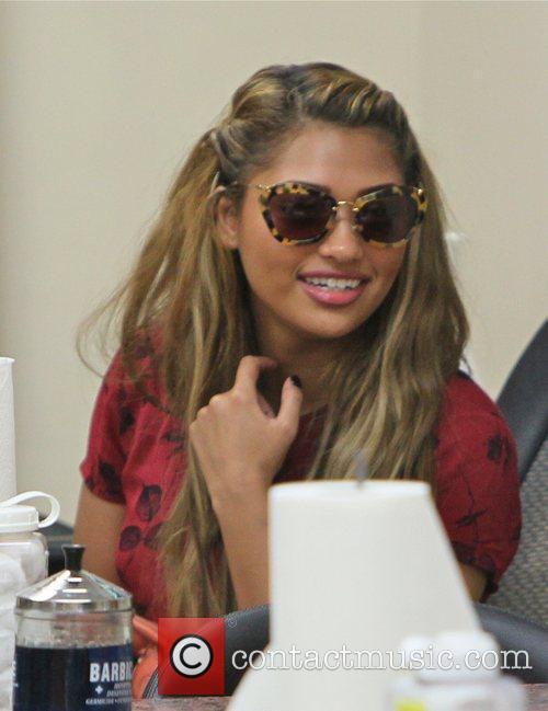 Vanessa White of The Saturday's  gets a...