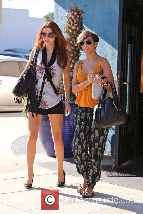 Seen leaving a studio in Los Angeles after...