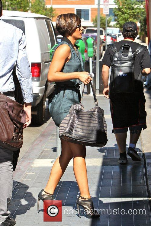 Frankie Sandford The Saturdays seen arriving at a...