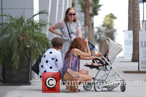 Frankie Sandford, Anne Healy, Una Healy and baby...