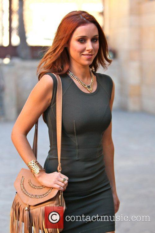 Una Healy The Saturdays arriving at a dance...