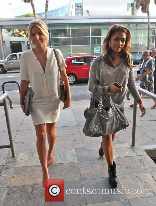 Vanessa White and Mollie King of The Saturdays...