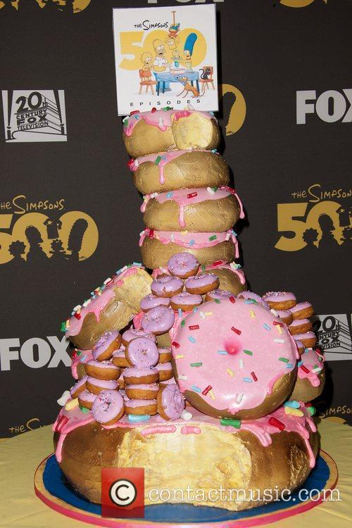 Simpsons 500th Episode Cake,  The Simpsons 500th...