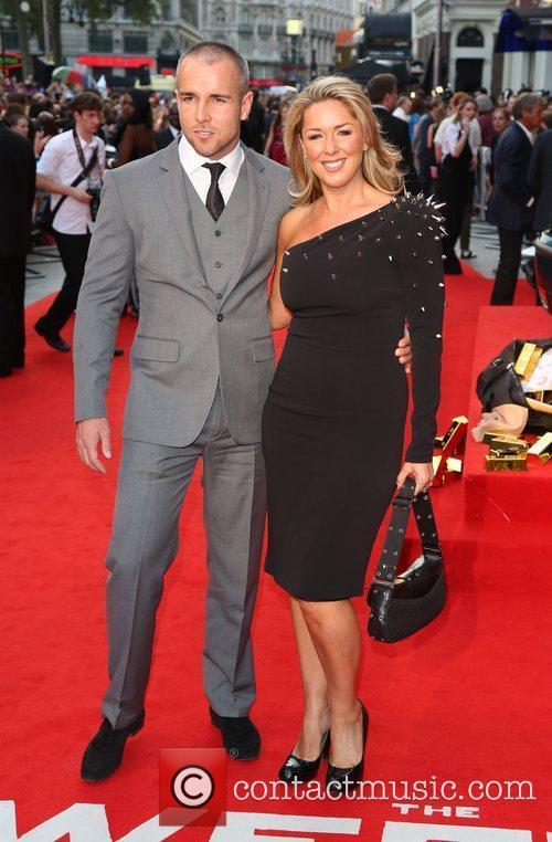 Claire Sweeney and boyfriend The Sweeney UK film...
