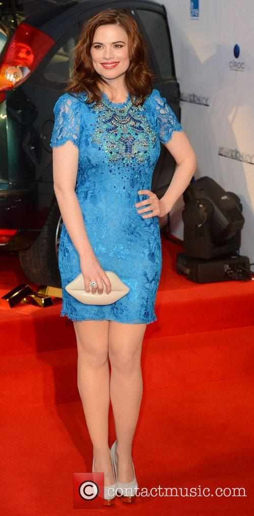 Hayley Atwell at the premiere of The Sweeney...