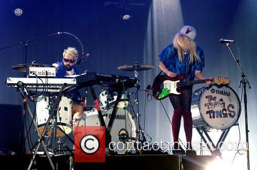 The Ting Tings perform live in concert during...