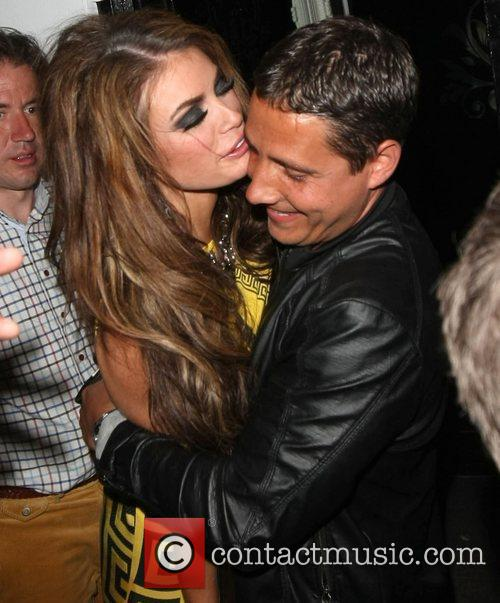 A worse for wear looking Chloe Sims is...